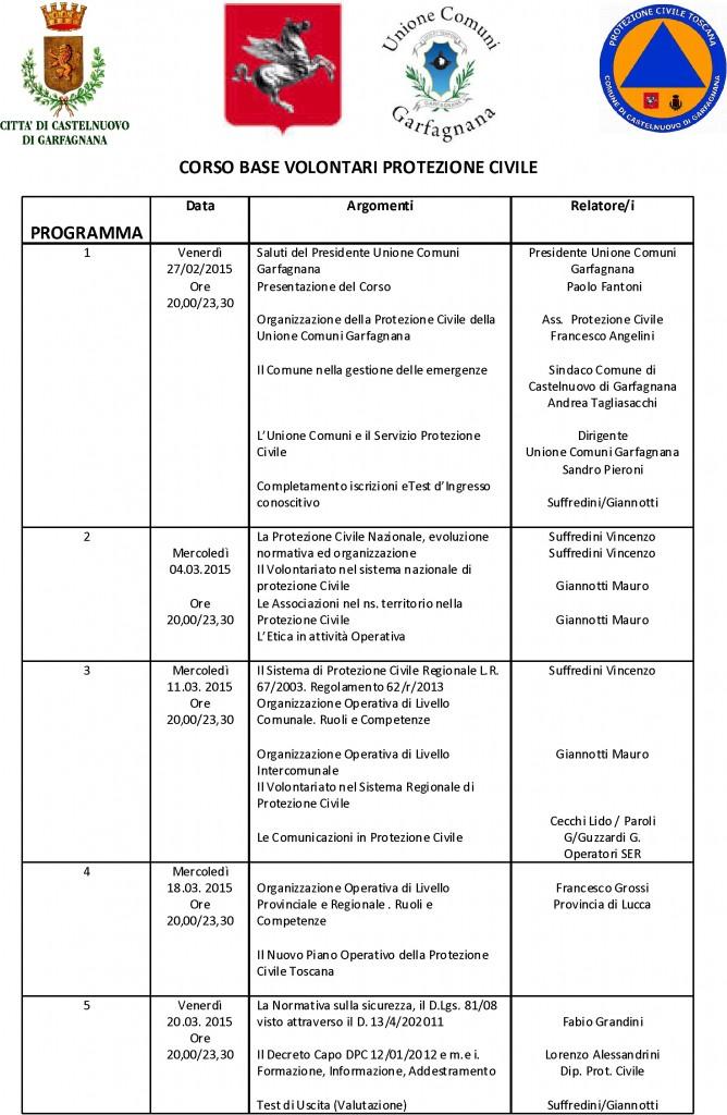 programma corso